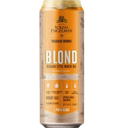 Пиво Volfas Engelman, Blond, in can, 568 мл
