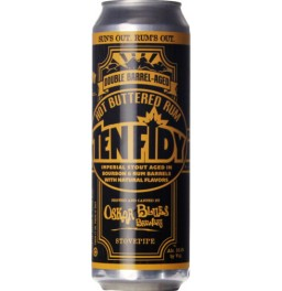 "Пиво Oskar Blues, ""Ten Fidy"" Double Barrel-Aged Hot Buttered Rum, in can, 568 мл"