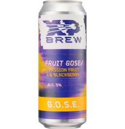 Пиво XP Brew, G.O.S.E. Passion Fruit & Blackberry, in can, 0.5 л