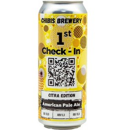 "Пиво Chibis, ""1st Check-In"" Citra Edition, in can, 0.5 л"
