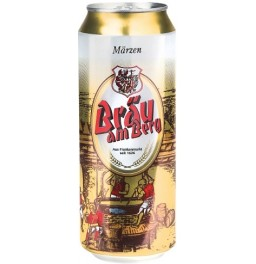 "Пиво Starzinger, ""Brau am Berg"" Lager Hell, in can, 0.5 л"