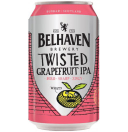 "Пиво Belhaven, ""Twisted Grapefruit"" IPA, in can, 0.33 л"